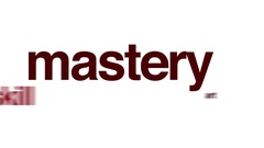 Mastery animated word cloud. Stock Footage