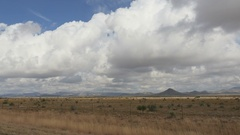 POV-Side window-New Mexico desert cloudy day US highway 180 Stock Footage