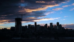 Sunrise over downtown Denver. Stock Footage