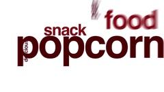 Popcorn animated word cloud. Stock Footage
