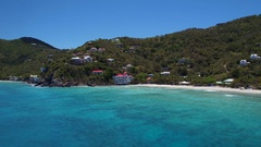 Aerial view of long bay, Tortola, British Virgin Islands Stock Footage