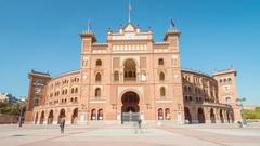 Madrid plaza de toros de las ventas timelapse Stock Footage