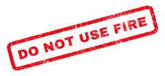 Do Not Use Fire Rubber Stamp Stock Illustration
