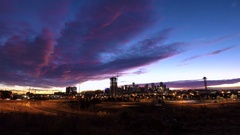 Time-lapse. Sunrise over downtown Denver. Stock Footage