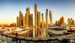 Dubai Marina bay, UAE Stock Photos