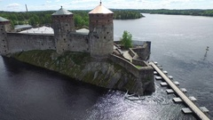 Olavinlinna Castle Stock Footage