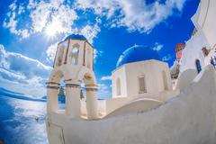 Oia village on Santorini island, Greece Stock Photos