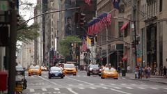 Traffic Streams In New York City Stock Footage