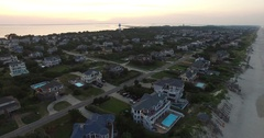 Aerial - Outer Banks at Dusk Stock Footage