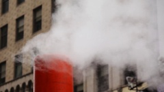Steam Spewing From City Pipe Stock Footage