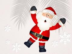 Santa Claus in relax Stock Illustration