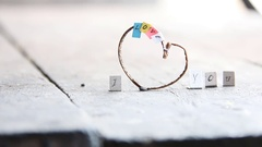 I love you or I heart you. Valentines day concept - romantic Lettering made by Stock Footage