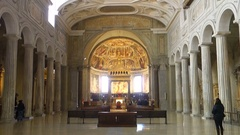 Interior view of San Pietro in Vincoli ( Saint Peter in Chains ) church Stock Footage