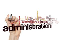 Administration word cloud Stock Illustration