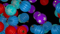 Falling Christmas Balls Transition Stock Footage