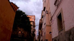 Walking in the narrow streets of Sorrento, Italy Stock Footage