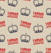 Old Seamless Texture of Crown of Queen. Retro Background Stock Illustration