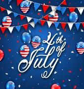American Celebration Background for Independence Day 4th July Stock Illustration