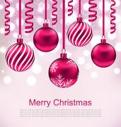 Christmas Beautiful Background with Ball Stock Illustration