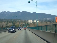 Through a car , Vancouver Canada hyperlapse daytime Stock Footage