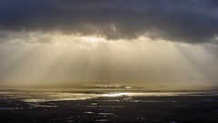 ICELAND godrays over the sea Stock Footage