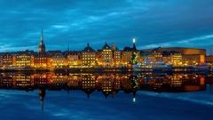 Central Stockholm, Sweden Stock Footage