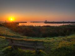 Sunrise zuidlaardermeer Stock Photos