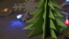 Dynamic new year's decorations, Christmas toys and objects Stock Footage