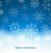 New Year Blue Background with Snowflakes Stock Illustration