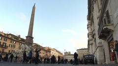 Navona square in Rome Stock Footage