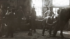 Historical smithy Netherlands Stock Footage