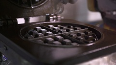 Make Belgian Waffles Stock Footage