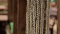 Rope. Wedding decor Stock Footage