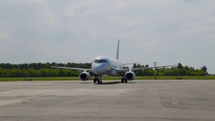 Aircraft Sukhoi Superjet Stock Footage