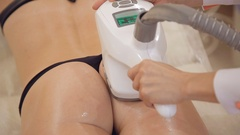 Anticellulite and lifting therapy with hardware cosmetology Stock Footage