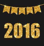 Happy New Year 201 Stock Illustration