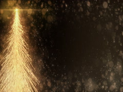 Animated Golden Christmas Fir Tree Star background seamless loop 4k resolution Stock Footage