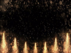Animated Golden Christmas Pine Tree Star background seamless loop 4k resolution. Stock Footage