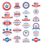 Objects and Symbols for Vote of USA Stock Illustration