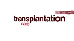 Transplantation animated word cloud. Stock Footage