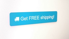 Free Shipping Button Video Stock Footage