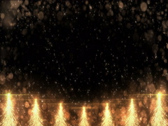 Animated Golden Christmas Fir Tree Star background seamless loop 4k resolution. Stock Footage