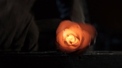 A hot metal rose. work smith Stock Footage