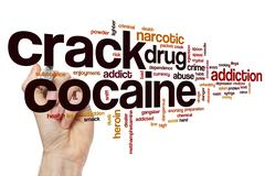 Crack cocaine word cloud Stock Illustration