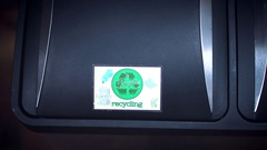 4k Shot of Recycle Bin, Throwing to Trash Plastic Bag Stock Footage