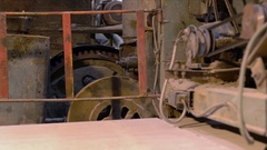 Industry. View of old operating equipment Stock Footage