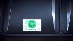 4k Shot of Recycle Bin, Throwing to Trash Laptop Stock Footage