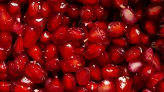 4K Footage close up of Pomegranate seeds background Stock Footage