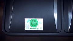 4k Shot of Recycling Bin, Throwing to Trash VR Cardboard Stock Footage