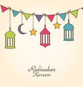 Celebration Card for Ramadan Kareem Stock Illustration